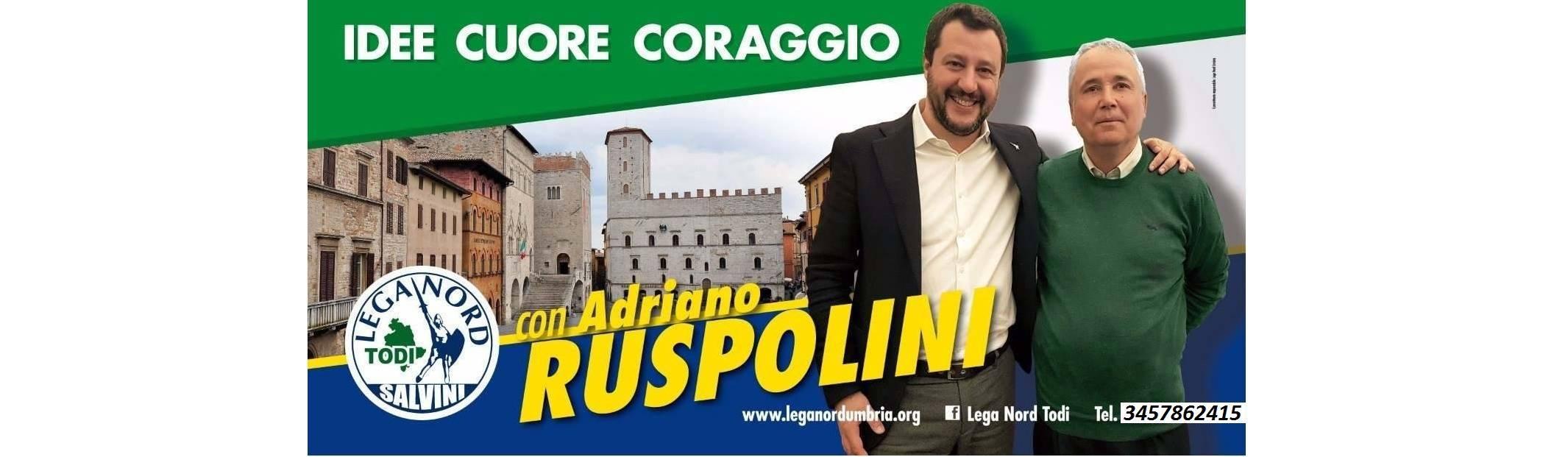 Todi, a sostengo di Adriano Ruspolini arriva Matteo Salvini