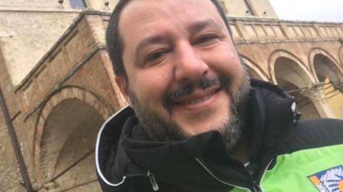 "Lega, Matteo Salvini, incantevole Umbria, stupenda Montefalco. Candiani ""Tornerà presto"""