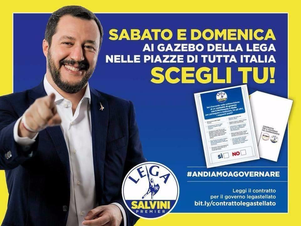 """Lega Umbria, Contratto di governo SI o NO? Nel fine settimana """"gazebata"""" nazionale. Ecco dove trovarci"""