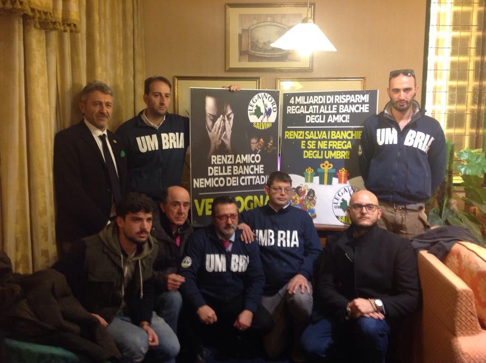 Decreto Salva Banche: Matteo Salvini lancia la mobilitazione della lega nord Umbria