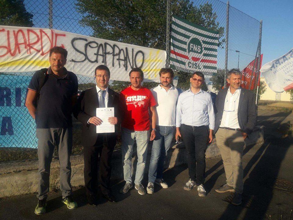 Carcere di Capanne, Polizia penitenziaria in stato di agitazione: sopralluogo Lega Nord Umbria